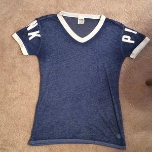 Victoria Secret PINK Cotton T-Shirt Blue